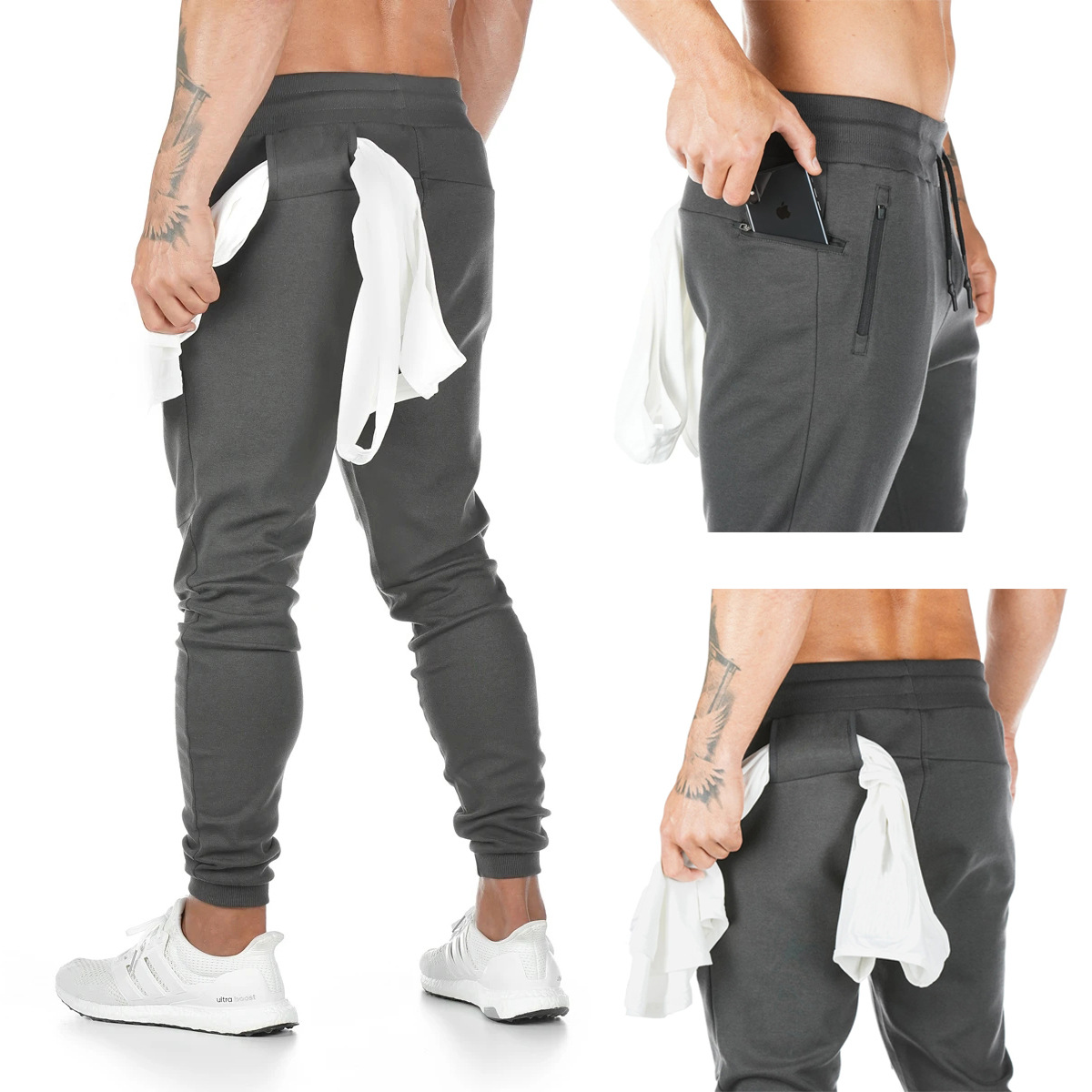 Men's new running fitness trousers