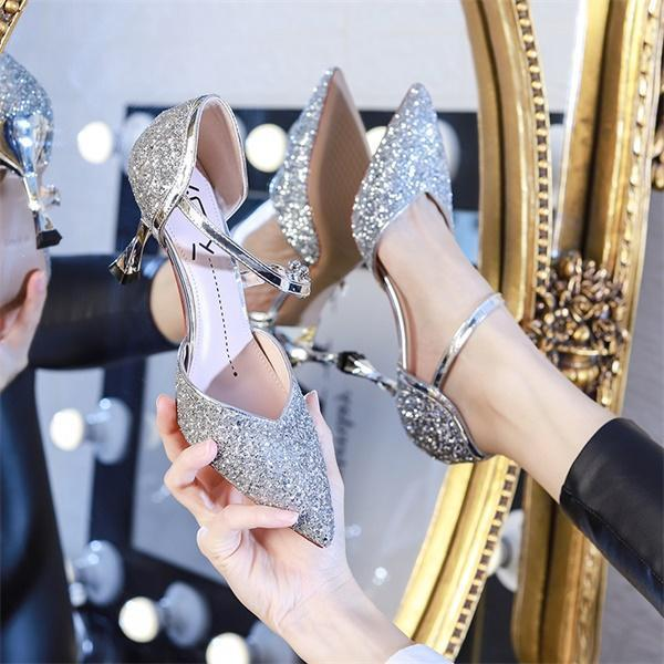 🔥🔥🔥2020:New Diamond Crystal&Sequin Heels💠(Suitable for parties, formal occasions, evening parties)