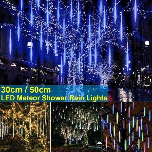 30/50CM LED Meteor Shower Rain Lights Christmas Party Decoration Light Outdoor Tree Falling String Lights Xmas Decoration
