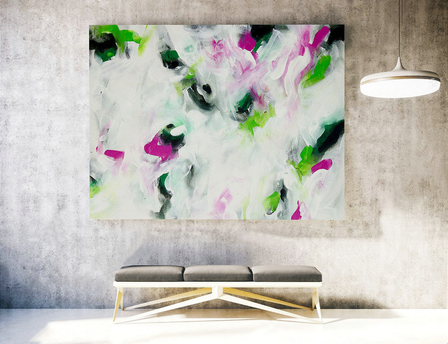 Extra Large Wall art - Abstract Painting on Canvas, Contemporary Art, Original Oversize Painting LAS039