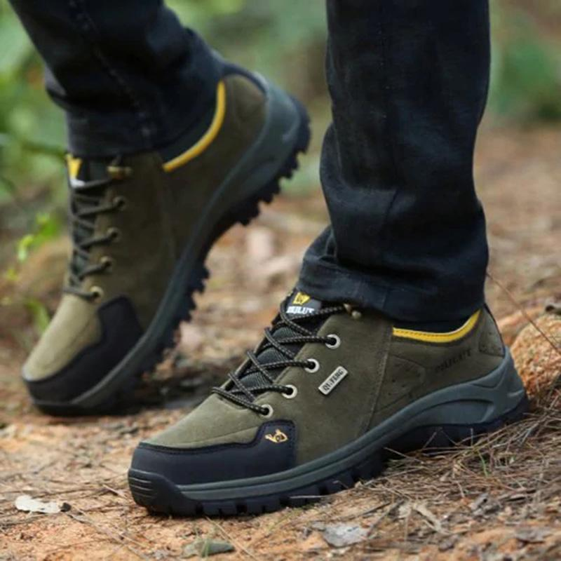 【Extra Discount Code:SD7】Men's Suede Plush All Seasons Outdoor Shock-Absorbing Sneakers