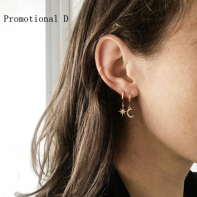 Earrings For Women 2371 Fashion Jewelry Gold Stylish Earrings Over The Counter Ear Drops To Unclog Ears Cinco Jewelry Tragus Studs 14K Gold Hoop Earrings