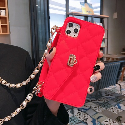 2020 NEW Luxury Wallet Diagonal Mobile Phone Case with Chain