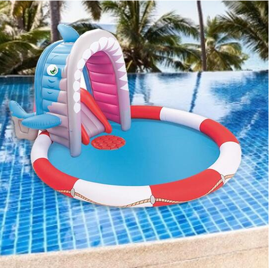 Inflatable Swimming Pool Play Pool with Splash Slide