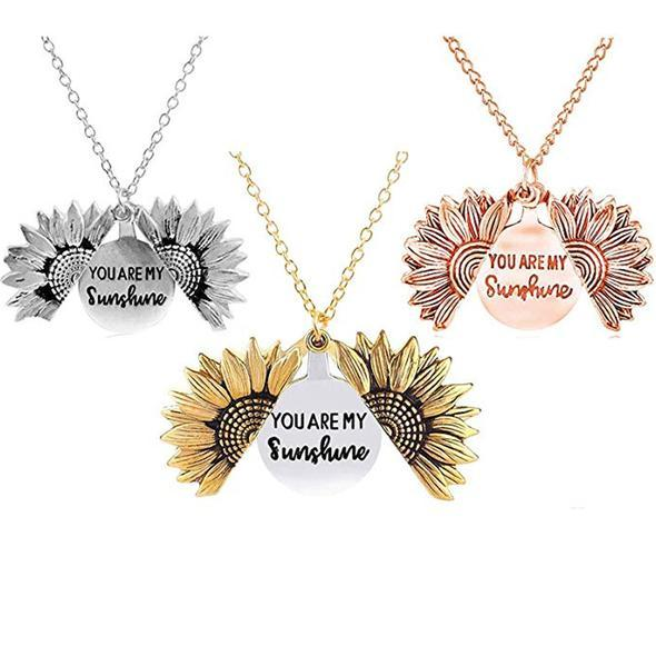 Sunflower Necklace You are My Sunshine Necklace Sunflower Gift Necklace