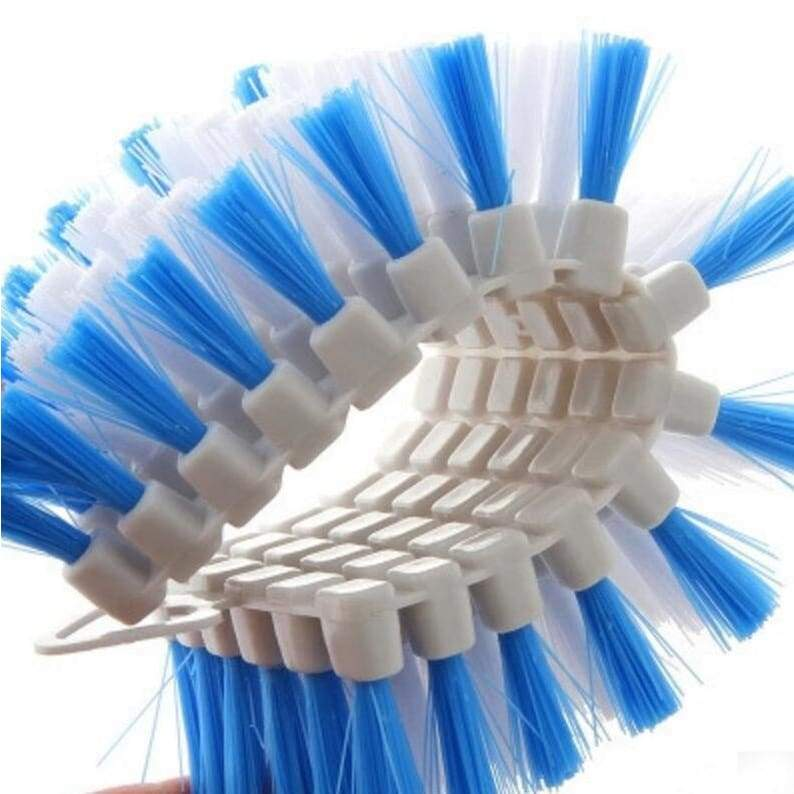 Brush bendable corner bubble cleaning soft kitchen tool