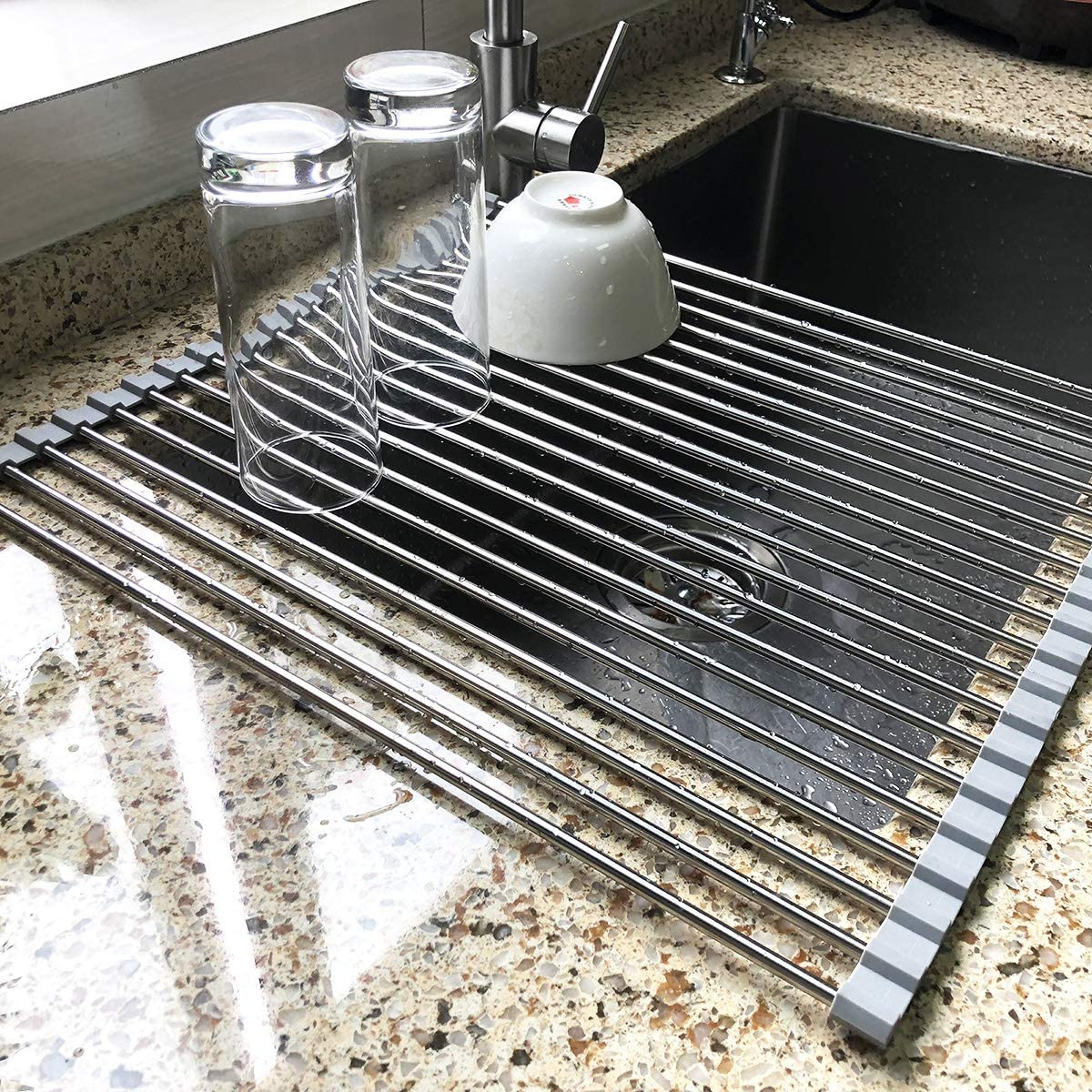 BUY 2 FREE SHIPPING - Roll Up Sink Drying Rack