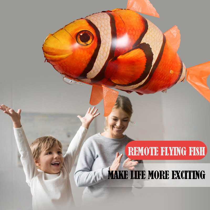 Air Swimmers Remote Control Flying Shark & Clownfish-Buy 2 Free Shipping