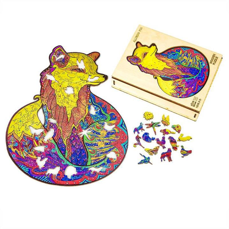 Charming Fox wooden puzzle