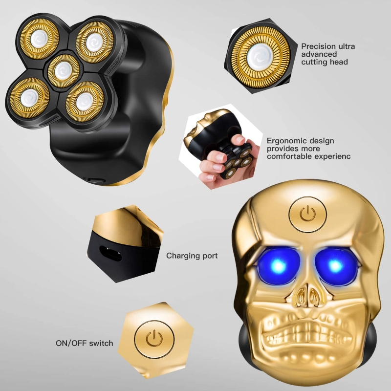 【Free Shipping】6 in 1 Multifunctional Skull Electric Shaver