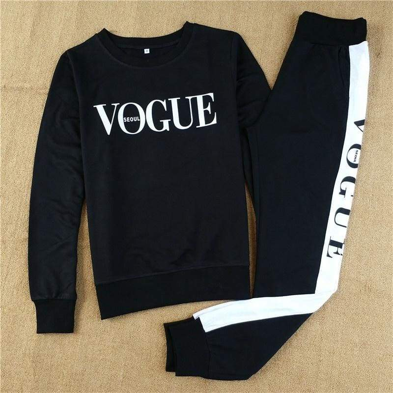 Sporting Outfit 2017 Autumn 2 Piece Set Women VOGUE Hoodie and Pants Suit Set Casual Tracksuit Long Sleeve Sweatshirt