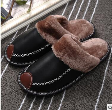 2020 WINTER COUPLE SUPER COMFY LEATHER WATERPROOF WARM SLIPPERS