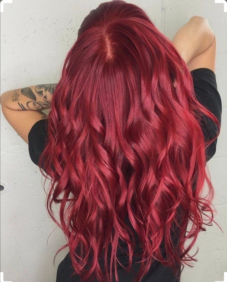 Lace Frontal Wigs Red Hair Vivid Red Hair Color Red Hair Piece Weddings Messy Box Braids Braids For Black Women Free Shipping