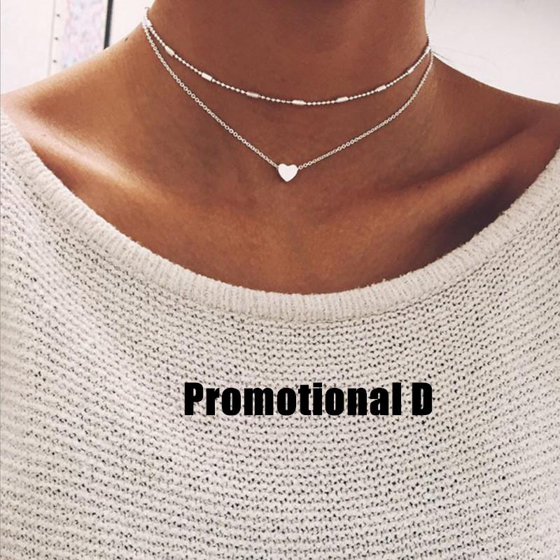 Fashion Necklace Dainty Necklace Lightning Necklace Women'S Black Rings 18K Necklace Silver Chain Necklace