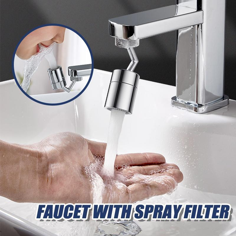 Faucet with spray filter