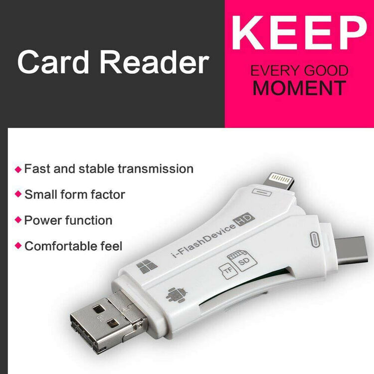 4 in 1 i-Flash Drive USB Micro SD&TF Card Reader