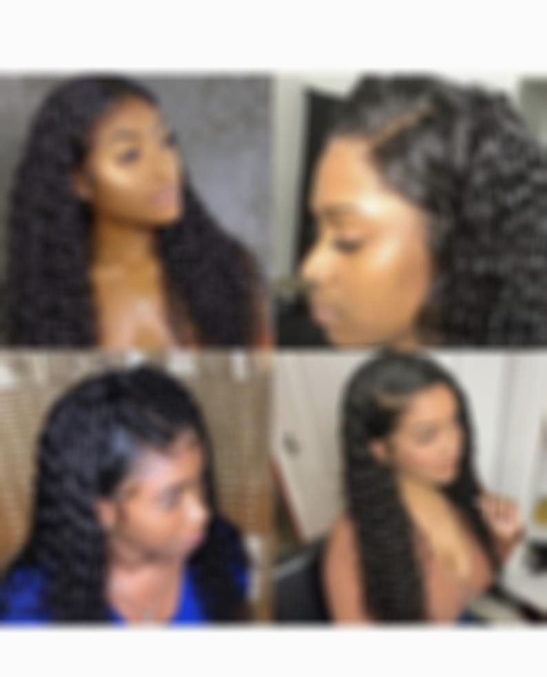 Brazilian Curly Wig Water Wave Lace Front Human Hair Wigs with Baby Hair Virgin Hair wigs with Lace Frontal Wigs