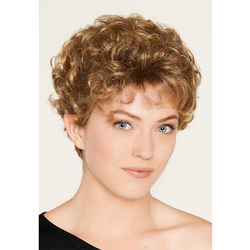 KAMI 126 Classic Little Curly Short Wigs Layered Wavy Wig for Women