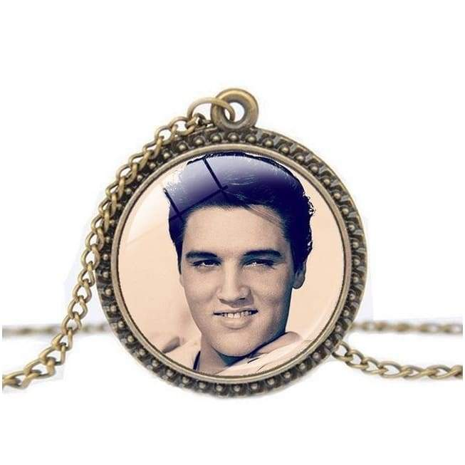 Fashion Vintage Elvis Presley Picture Pendant Necklace The King of Rock Art Fans Jewelry Christmas Gifts