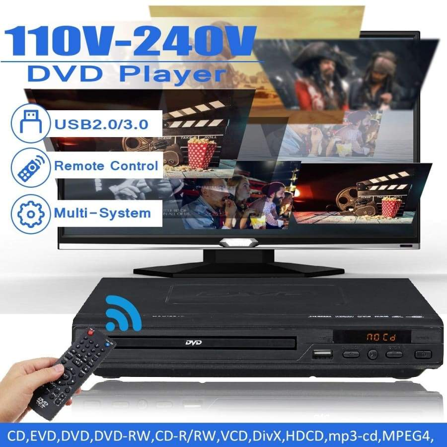 Multi Region Blu-ray DVD Player, USB CD Player 110-240 volts, HDMI Cable  Packaged Smart / Multi Region