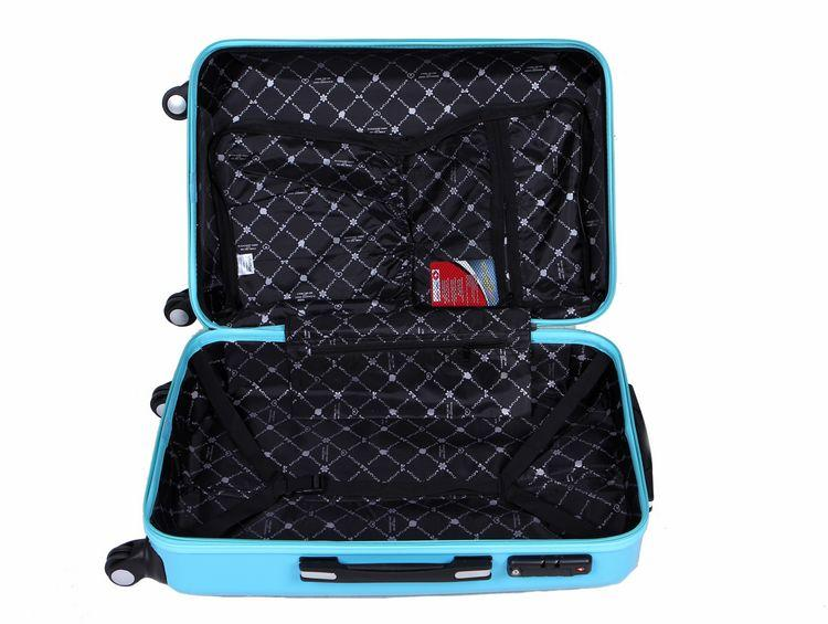 travelling ABS PC red waterproof luggage with carry on roller bag-1.9