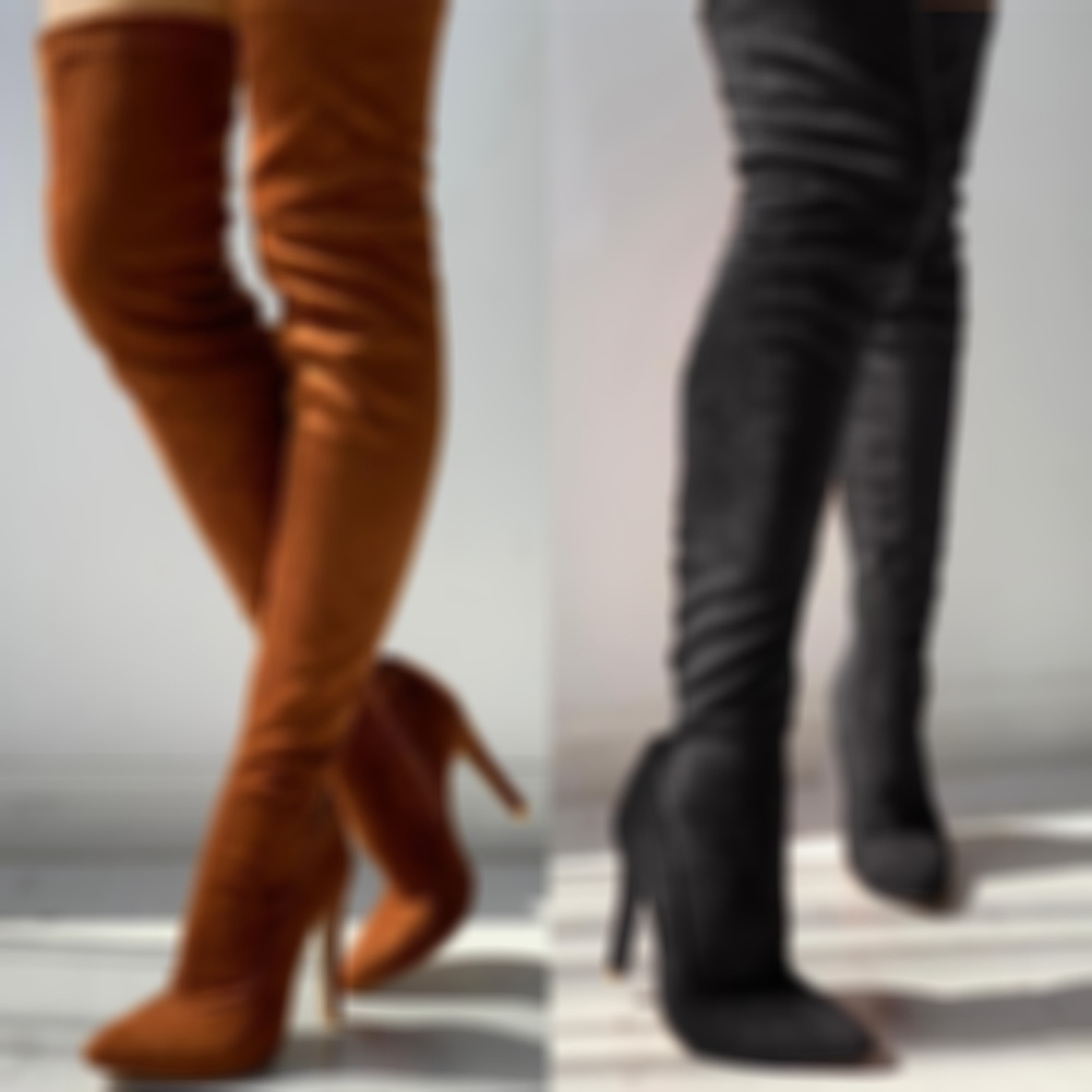 New women's shoes woman Plus Large big size 35-43 over the knee boots thin high heel sexy Party Boots