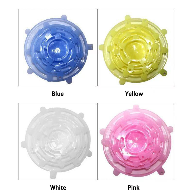 (6 pcs/set)Stretch & Fit - Silicone fresh cover