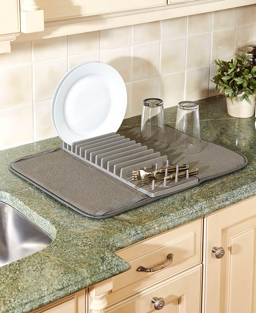Cuisinart庐 Dish Drying Mat with Rack