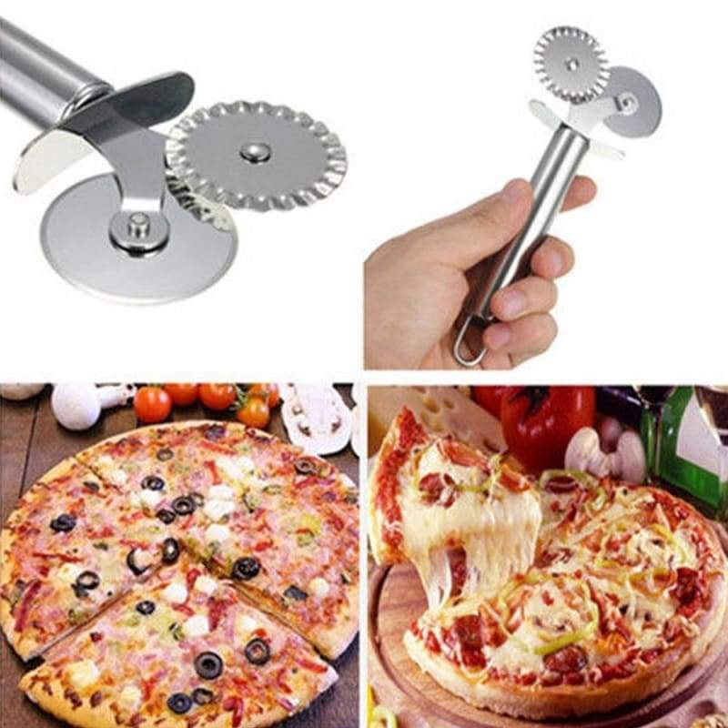 Pizza cutter 1pc stainless steel wheel pastry slicer