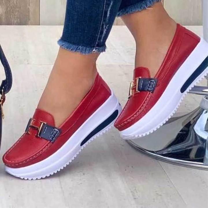 Ladies Casual And Comfortable Platform Loafers