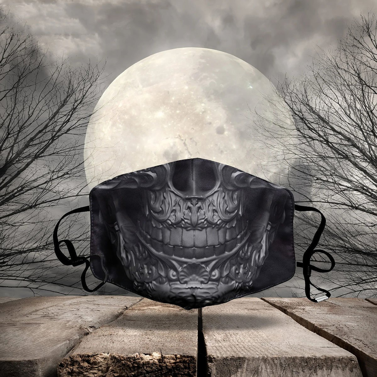 HALLOWEEN FABRIC FACE COVER AZS0003