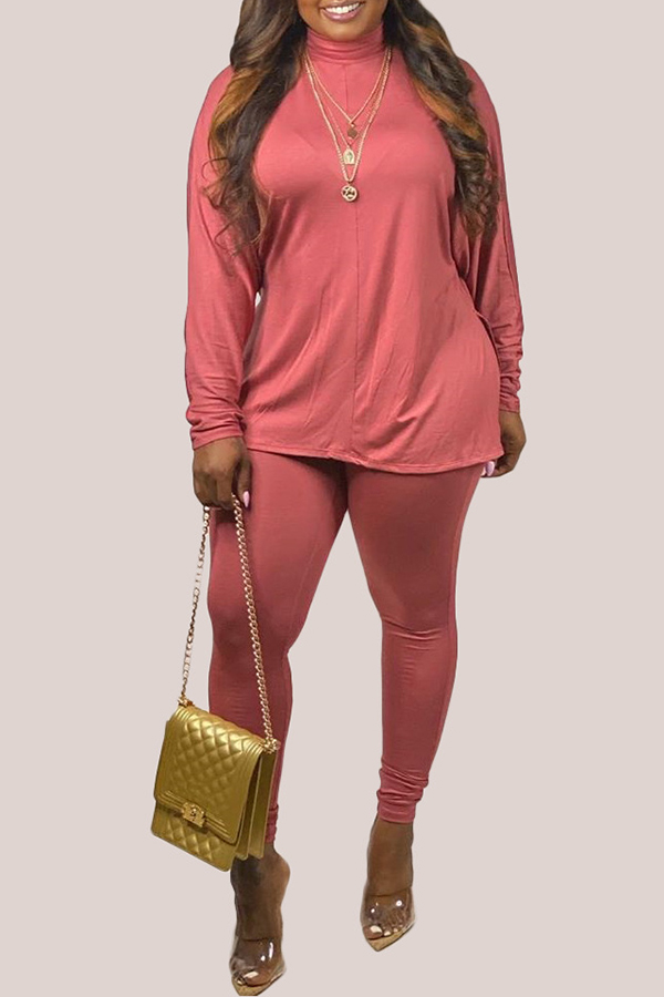 Solid Color Long Sleeve Two-piece Set