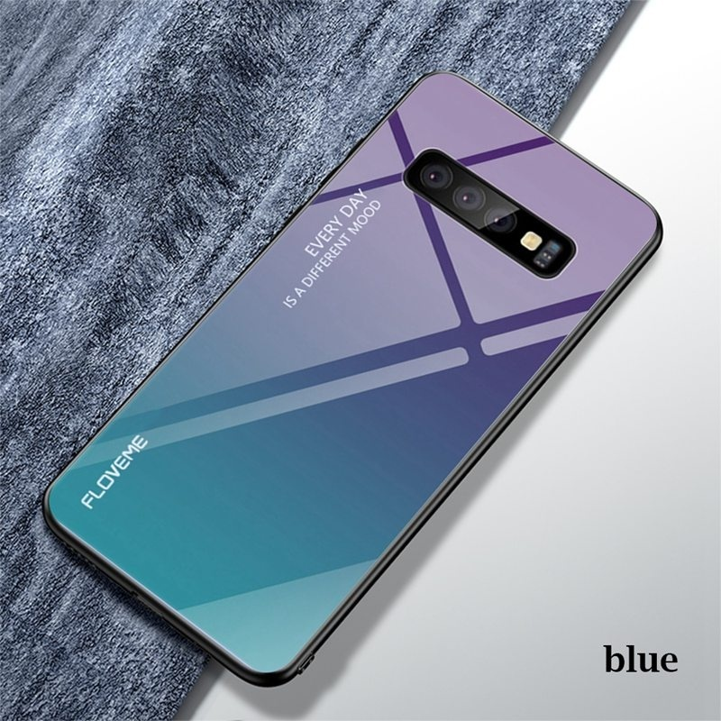 For Samsung S10 S10Plus S10e S9 S9Plus S8 S8Plus Note8 Note9 Note10 Gradient Tempered Glass Phone Case For Huawei P30 P30Lite P30Pro P20 P20Lite P20Pro Mate20Pro Anti-fall Cover For iPhone X Xs Xr Xs Max Etc