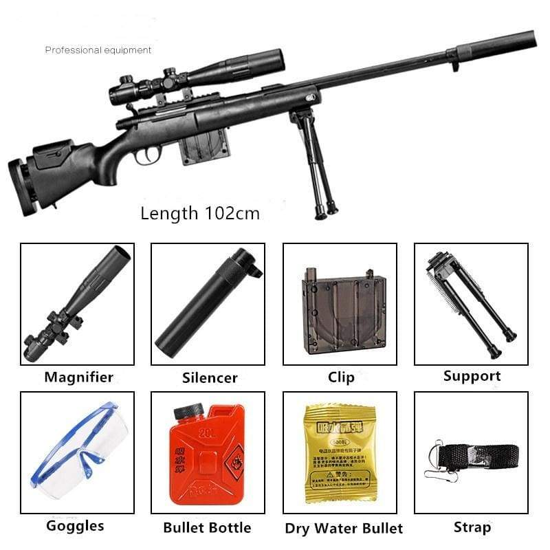 Water Bullet Gun Sniper Children's Toy Gun Set Crystal Bullet Toy Gun