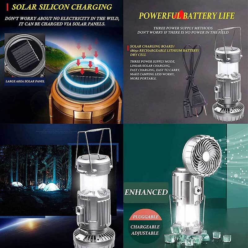 (50% OFF)6 in 1 Portable Outdoor LED Camping Lantern With Fan