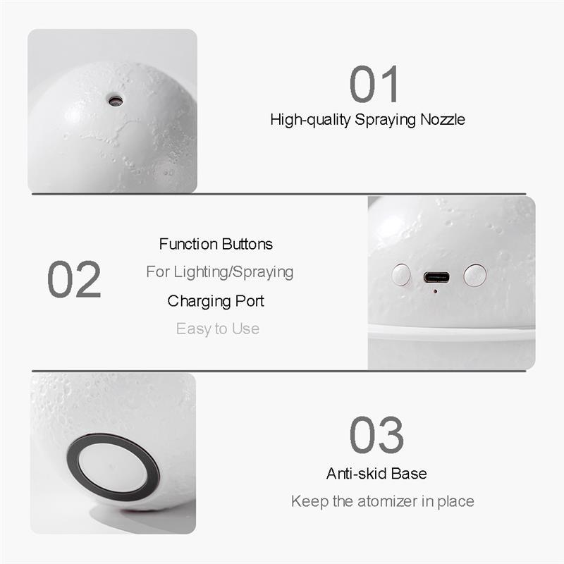 🌙Planet Air Humidifier Warm LED Night Light🌕