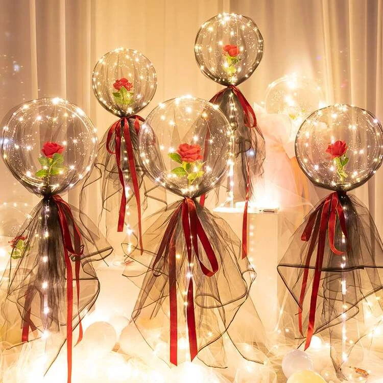 (Best Valentine's Day Gift )LED Luminous Balloon Rose Bouquet-BUY 2 GET 2 FREE(FREE SHIPPING)