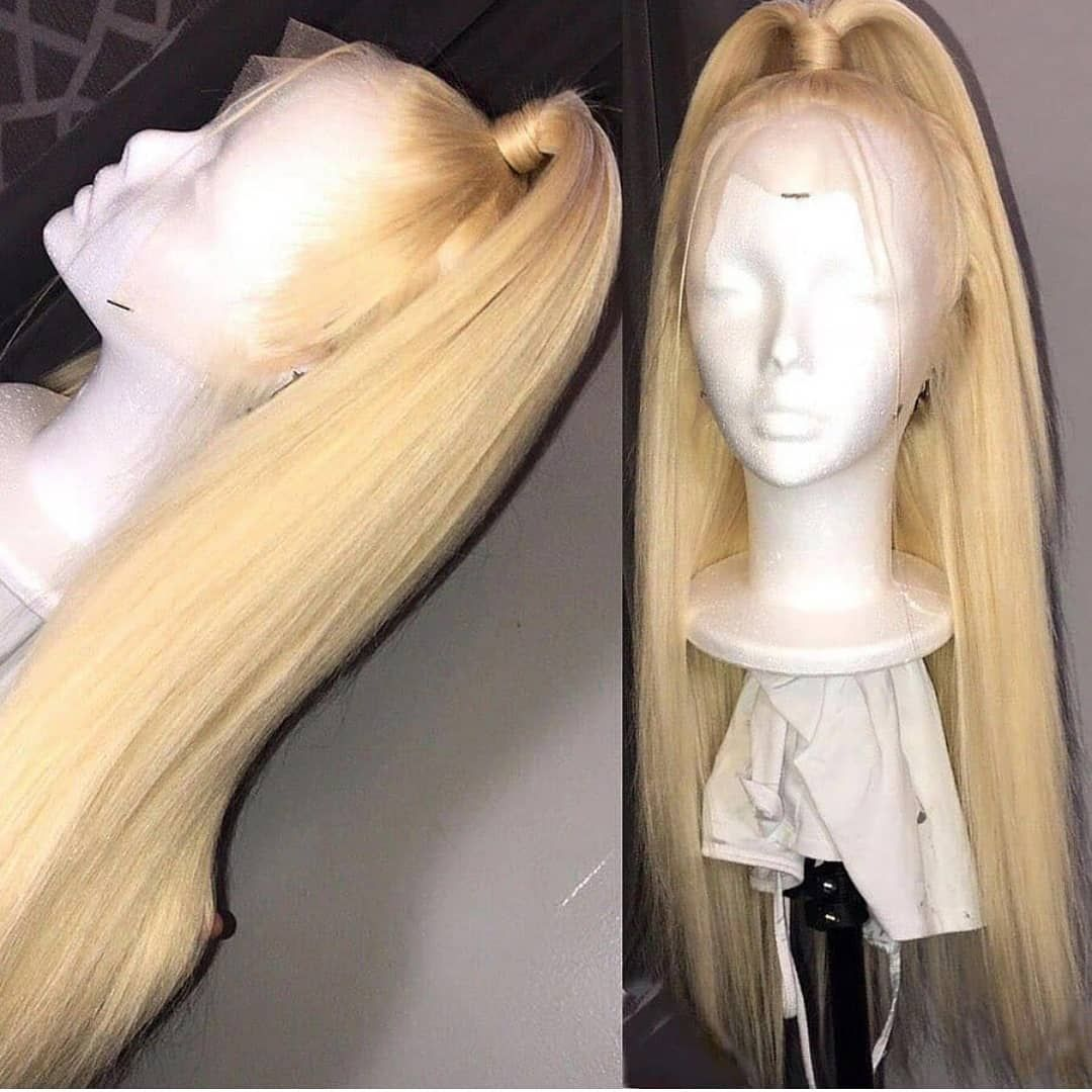 Blonde Wigs For Black Women Lace Front Sandy Blonde Hair 16 Inch Water Wave Wig Deep Wave 613 Hair Ash Beige Hair