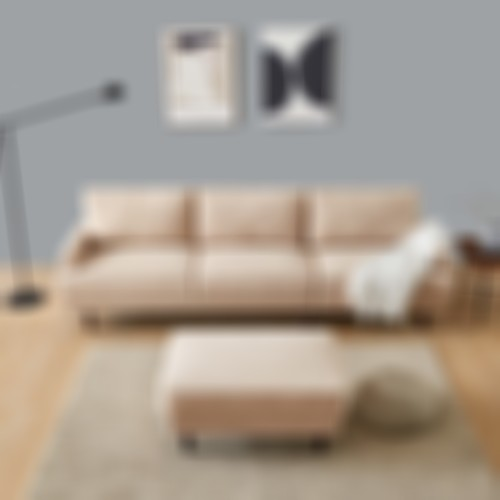 Modern fabric sofa L shape