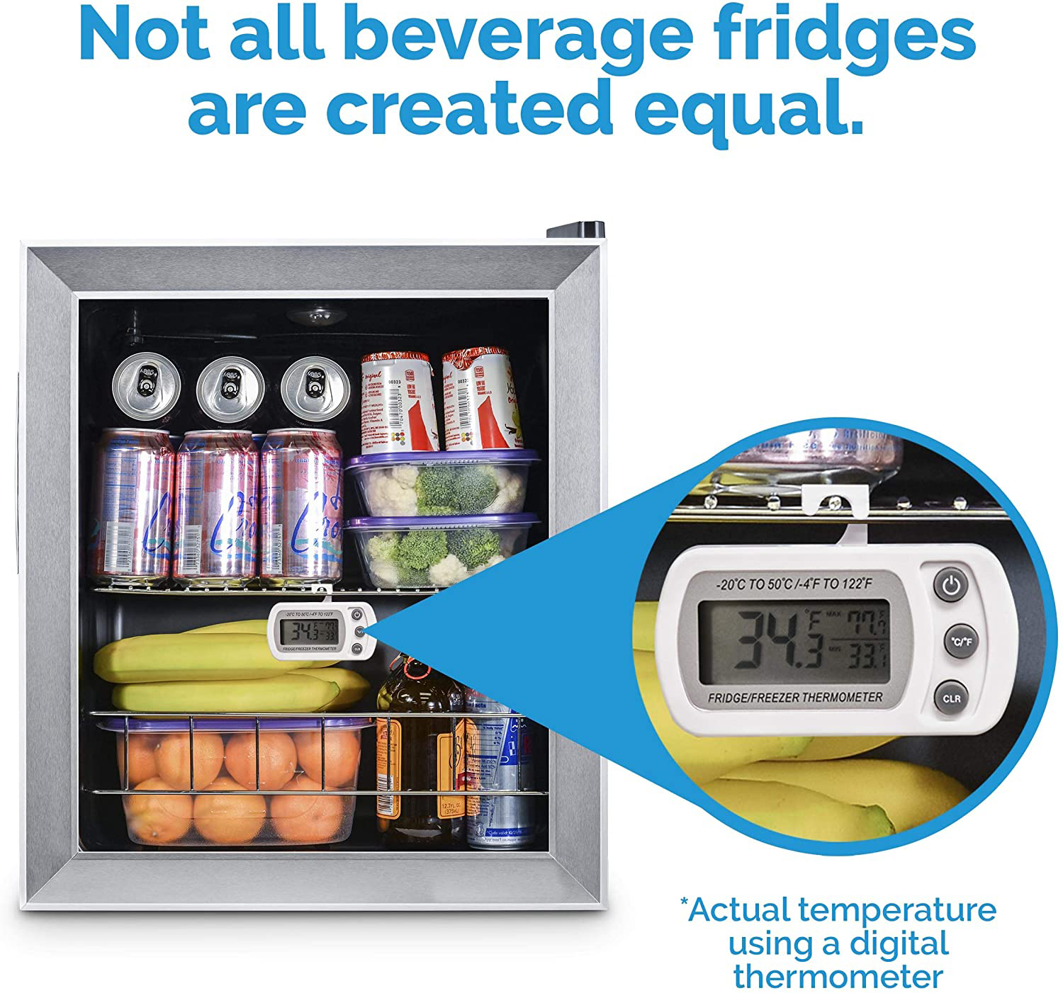 refrigerator Beverage Cooler and Refrigerator
