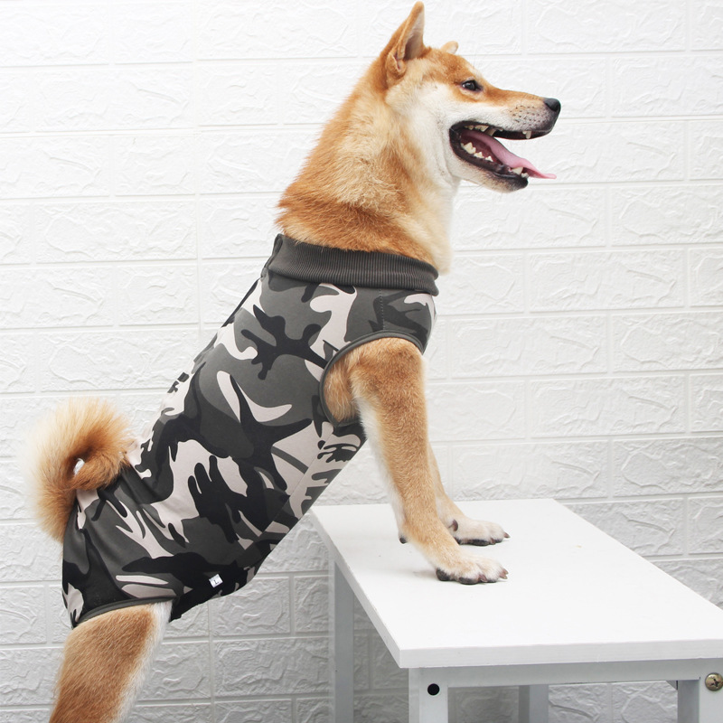 Dog Recovery Suit Abdominal Wound Protector Puppy Medical Surgical Clothes Post-Operative Vest Pet