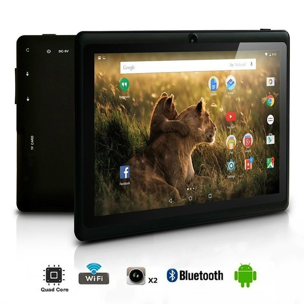 7 Inch Android Tablet 1GB Ram + 4/8/16GB Rom Quad Core IPS Screen Dual Camera Bluetooth Kids Tablet PC