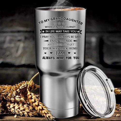 To My Granddaughter- Enjoy The Ride - Stainless Tumbler