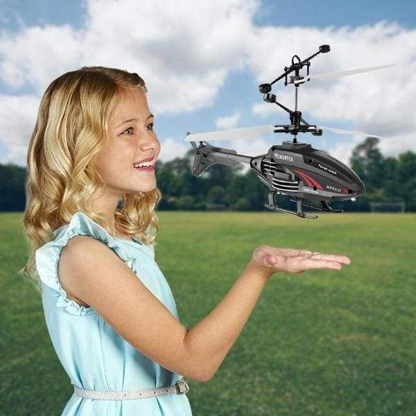 coozy? Flying Helicopter Toys, USB Rechargeable Induction Hover Helicopter With Remote Control For Over 5 Years Old Kids Indoor And Outdoor Games