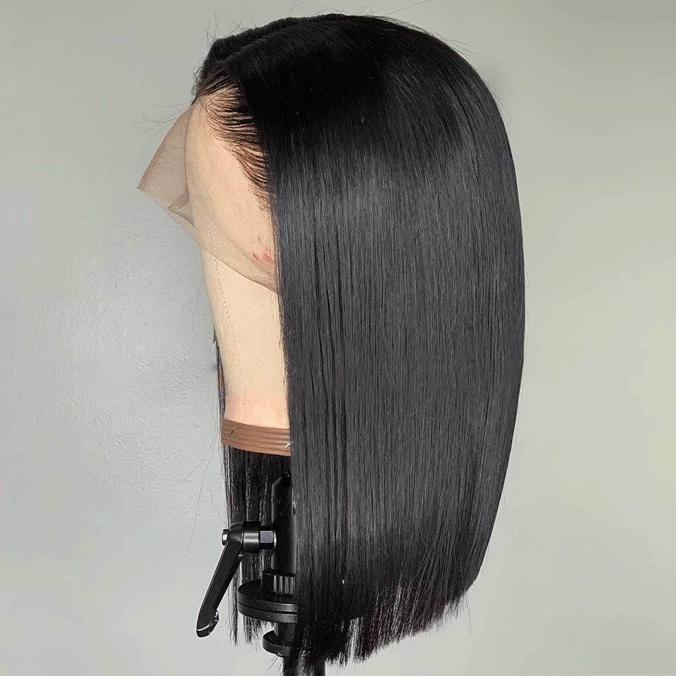 2020 New Straight Wigs Black Long Hair Short Bob Wigs For African American Black And Blonde Bundles