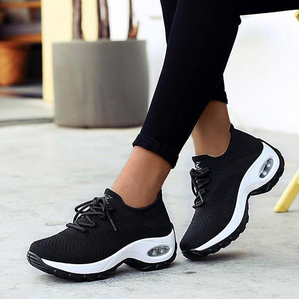 Lemmikshoes Women Platform Air Cushion Fashion Casual Sneakers