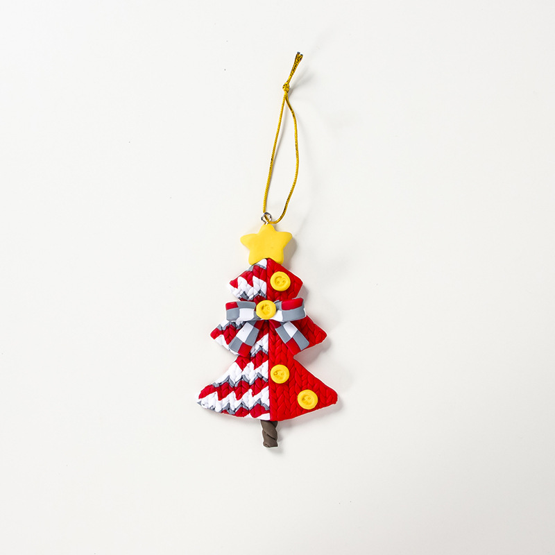 Soft Clay Christmas Tree Ornament Type 6 - Merry Christmas