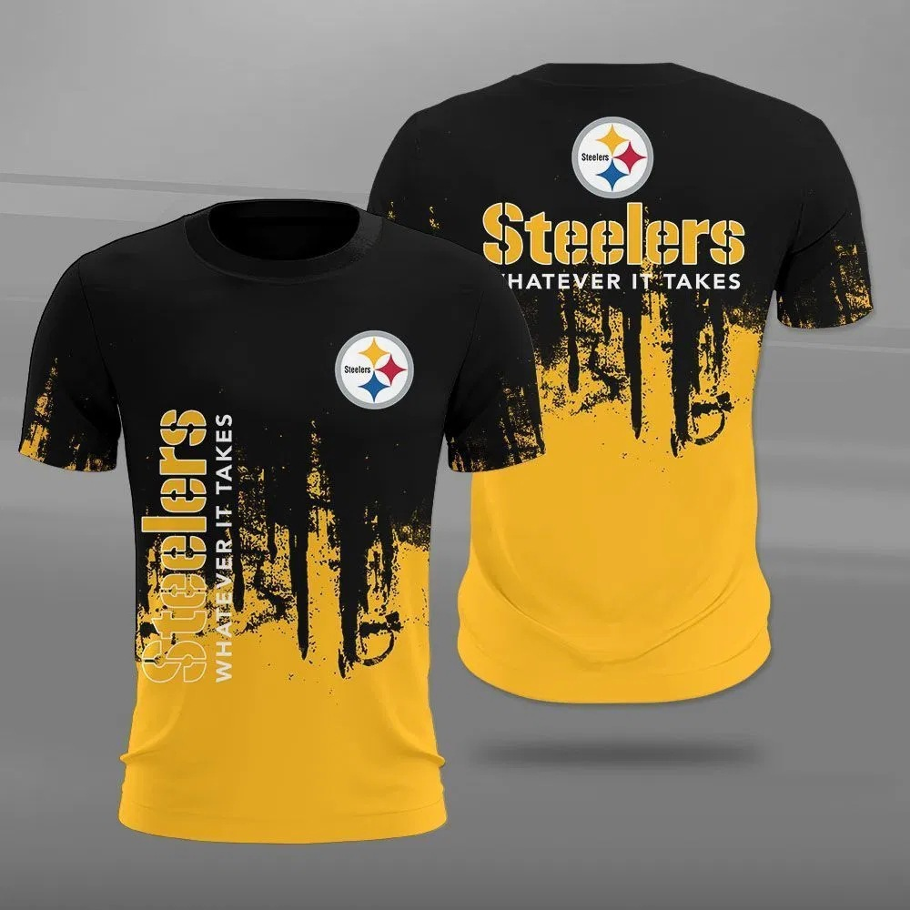 Pittsburgh Steelers T-shirt 3D new style Short Sleeve