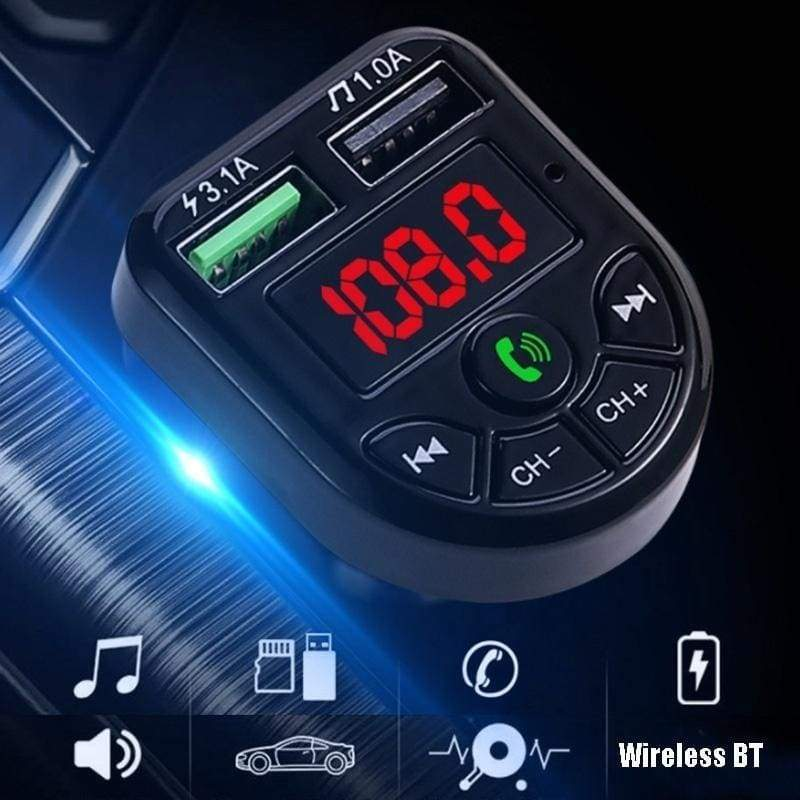 1PC Car MP3 Player BT Wireless FM Transmitter LCD MP3 Player USB Charger Car Accessories