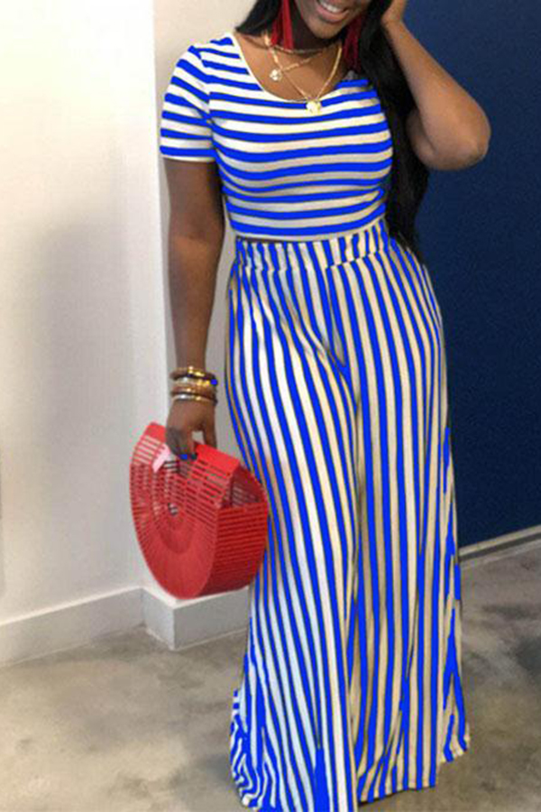 Casual Striped Loose Suit
